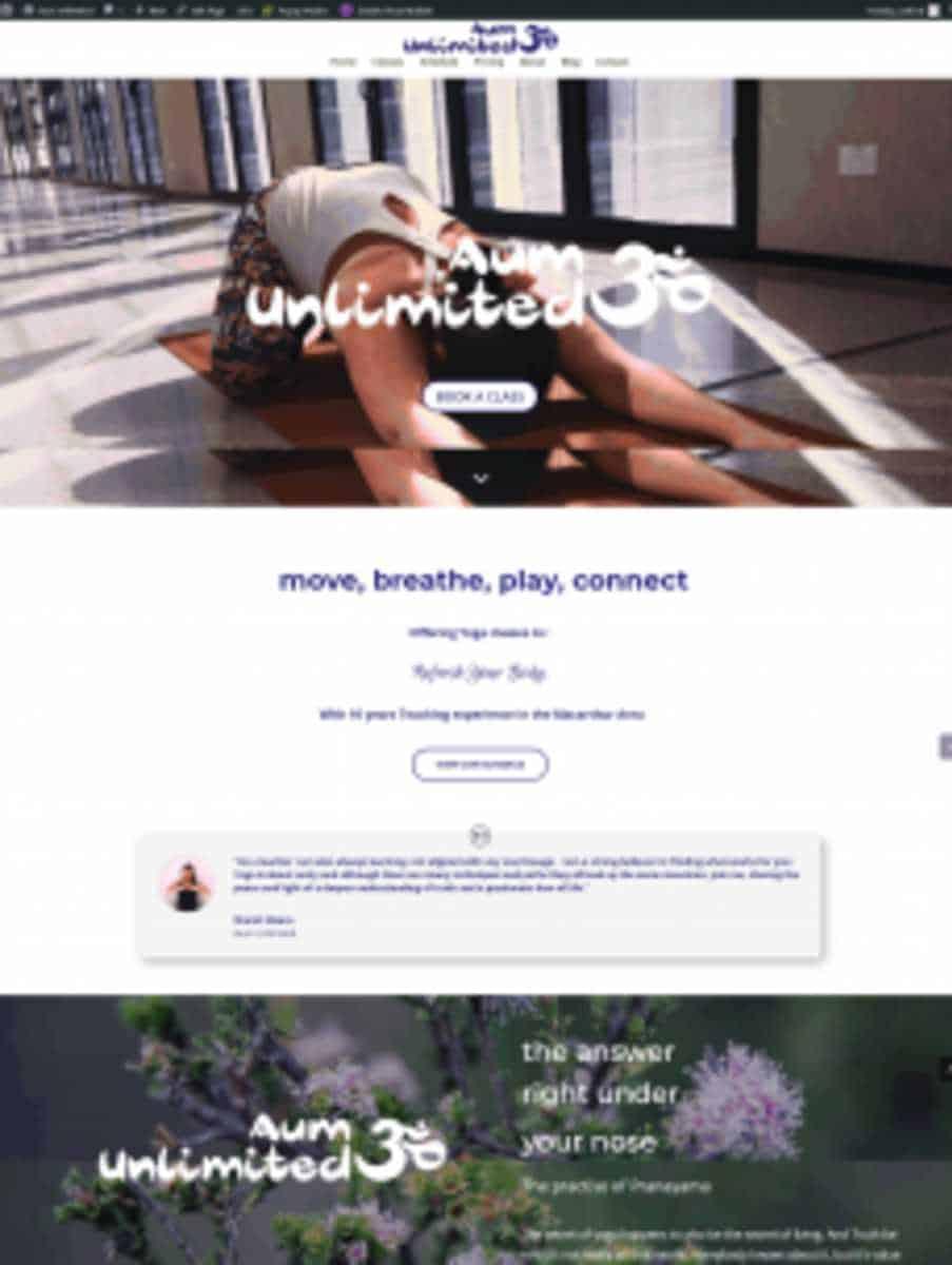 aum unlimited website