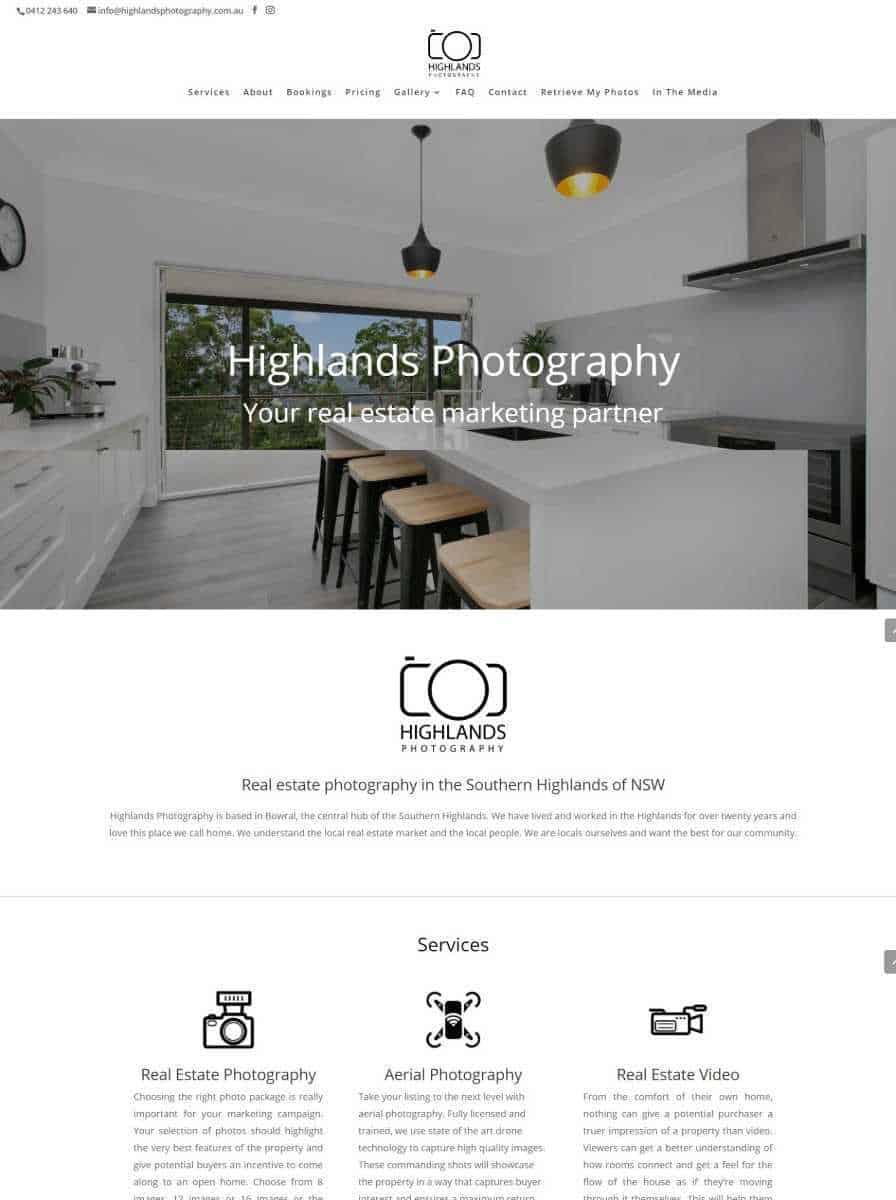highlands photography website