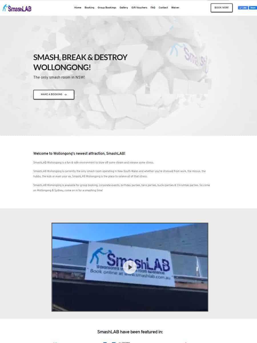 smashlab wollongong website
